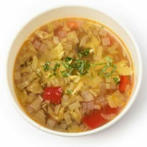 Бистра зеленчукова супа с джинджифил