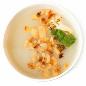 Бадемова крем супа с карфиол