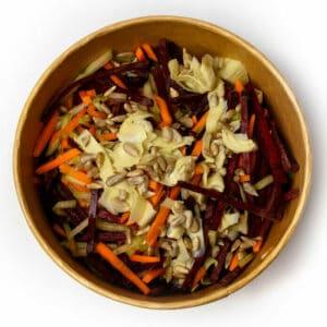 Витаминна салата с артишок и семена